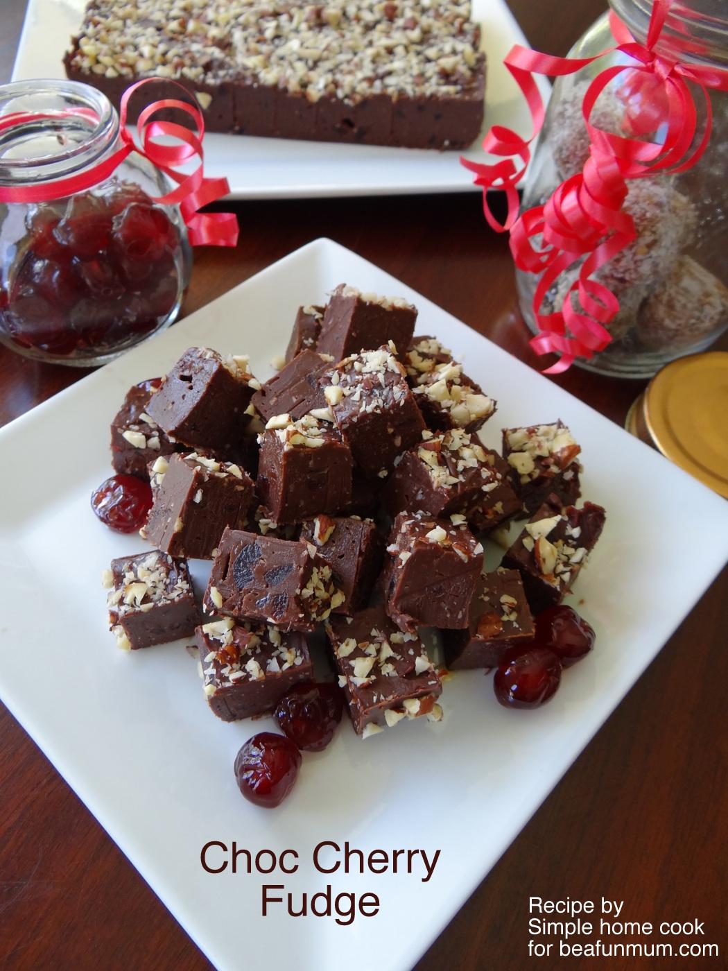 Choc Cherry Fudge Recipe