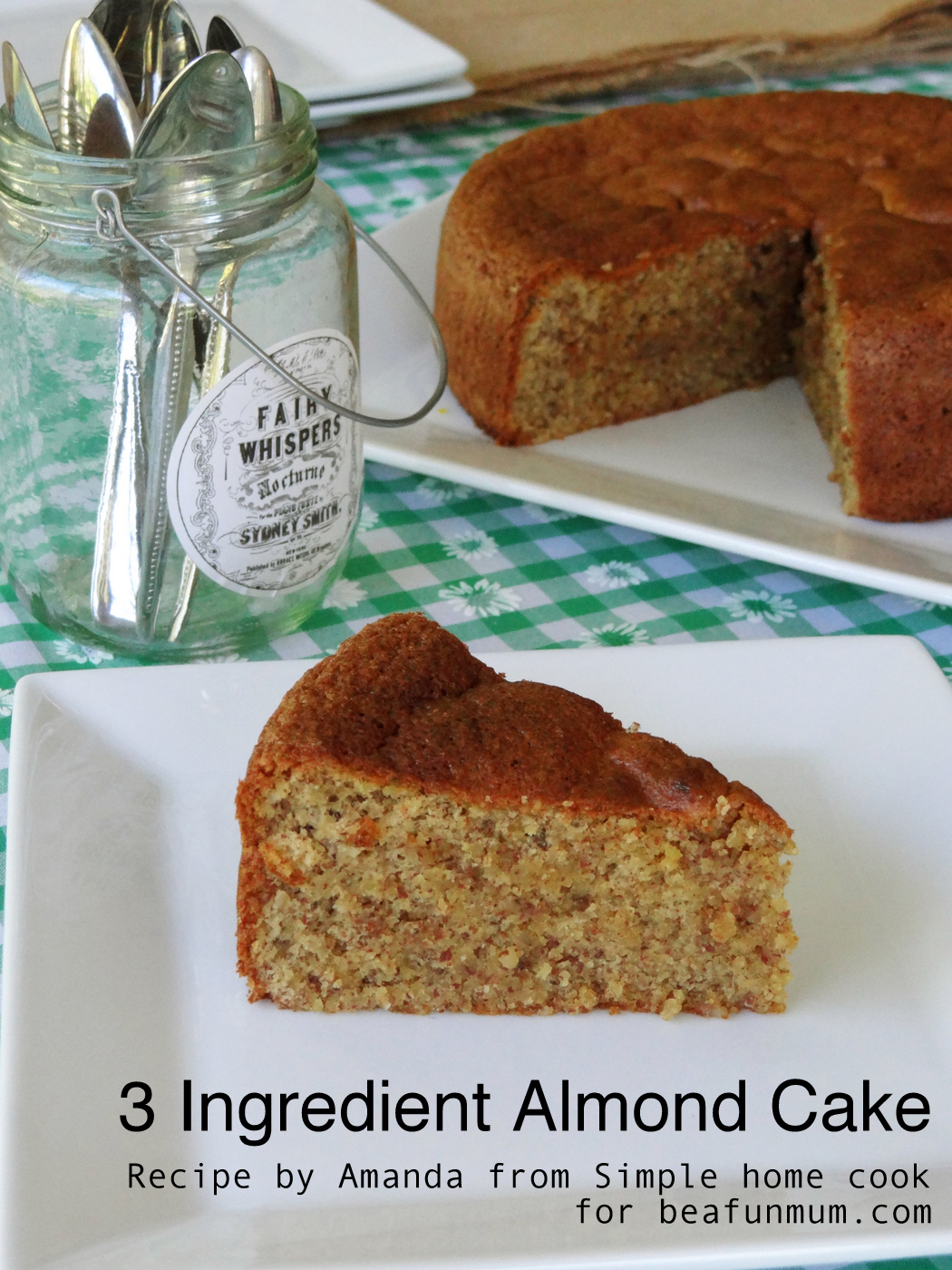 3 Ingredient Almond Cake