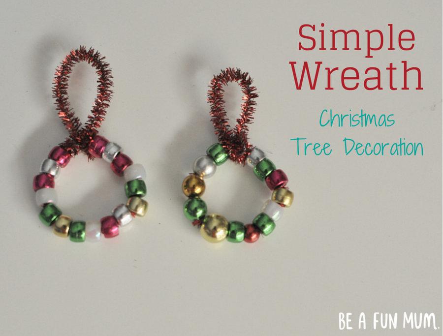 Simple Wreath Bead Christmas Tree Decoration