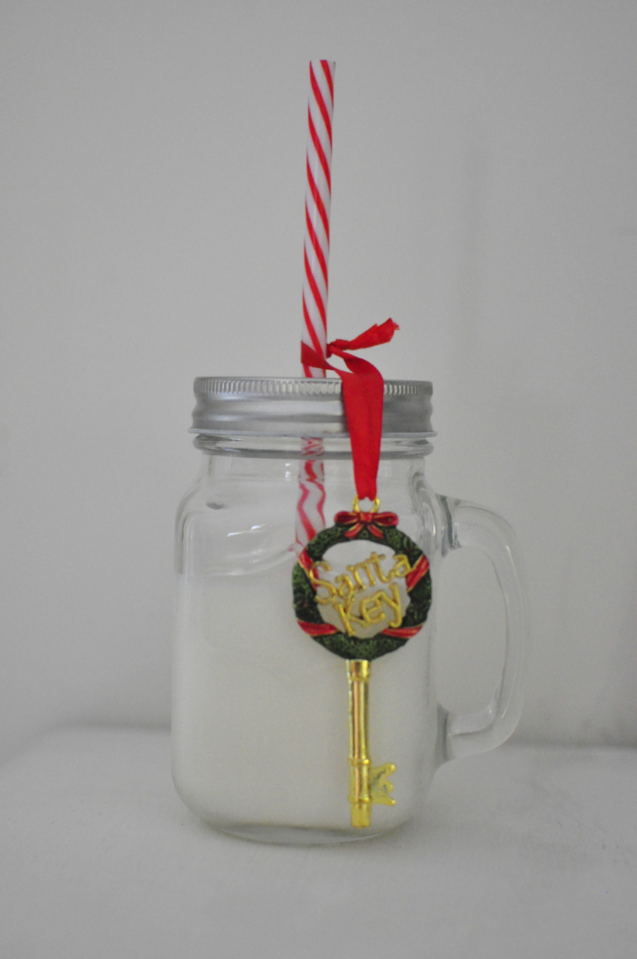 Milk for Santa in a Mason Jar