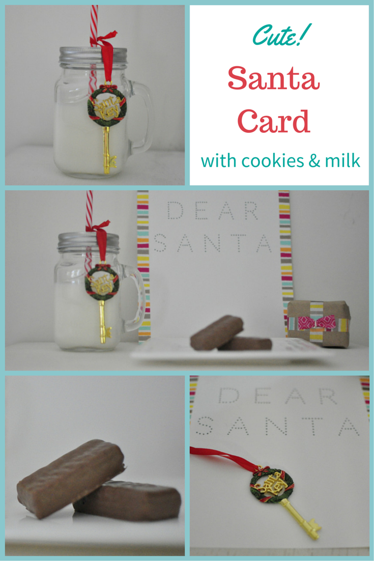 Dear Santa Letter  - with cookies and milk