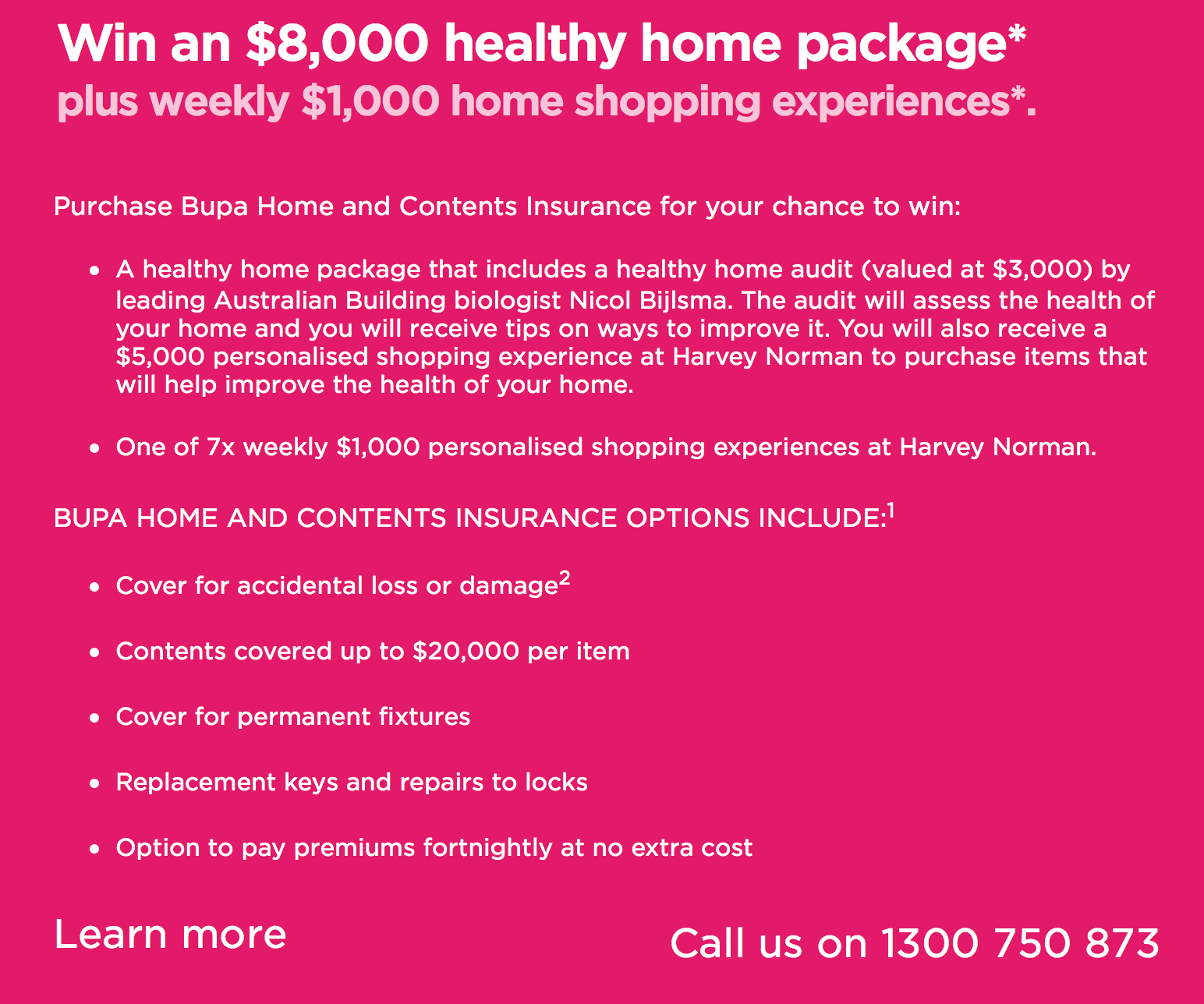 BUPA healthy home giveaway