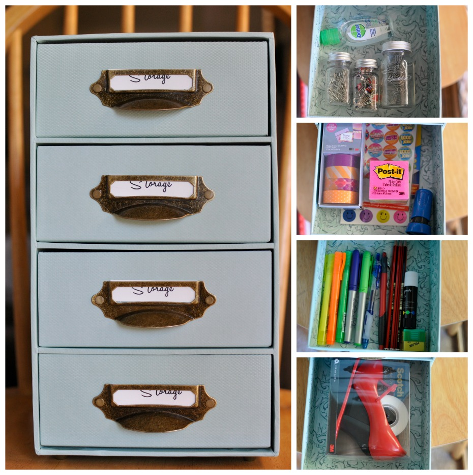 End of year teacher gift ideas - drawers filled with stationery