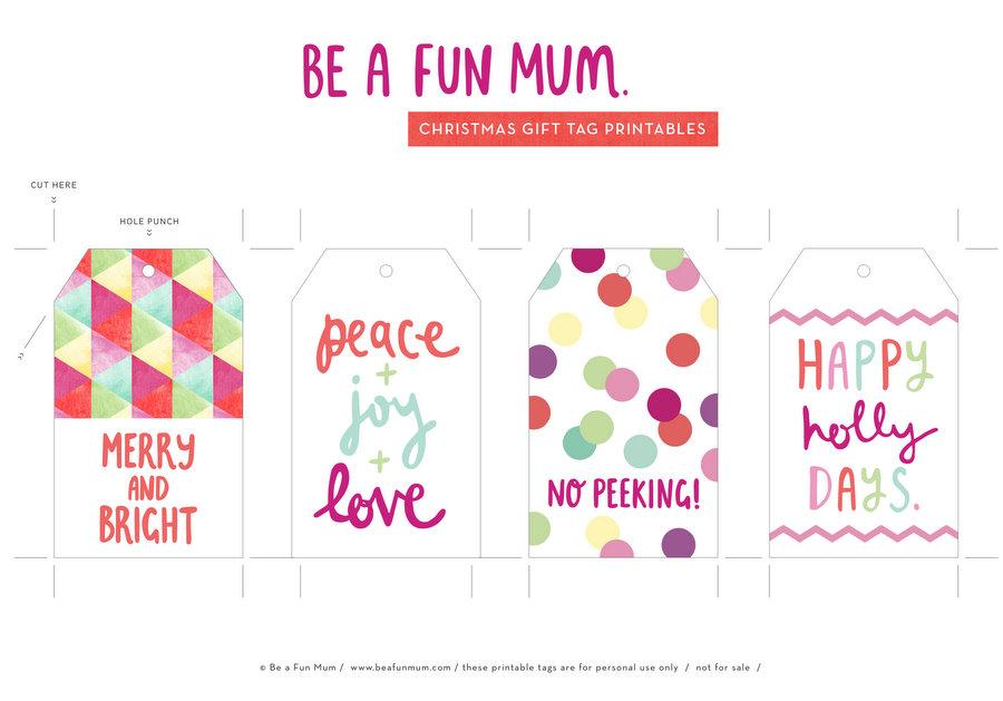 Christmas Tags Printable - Free