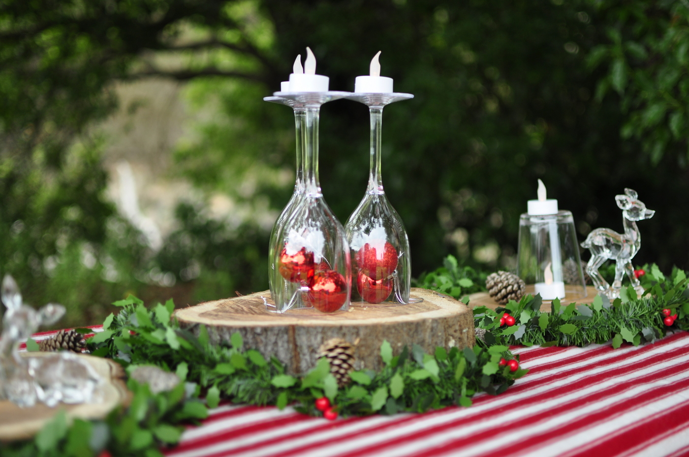Outdoor christmas ideas be a fun mum for Patio table centerpiece ideas