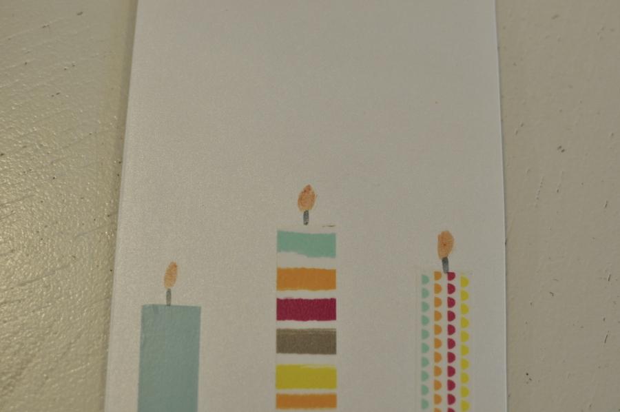 Washi Tape Candle Card