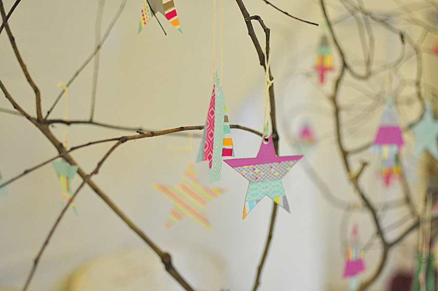 Washi Tape Christmas Decorations