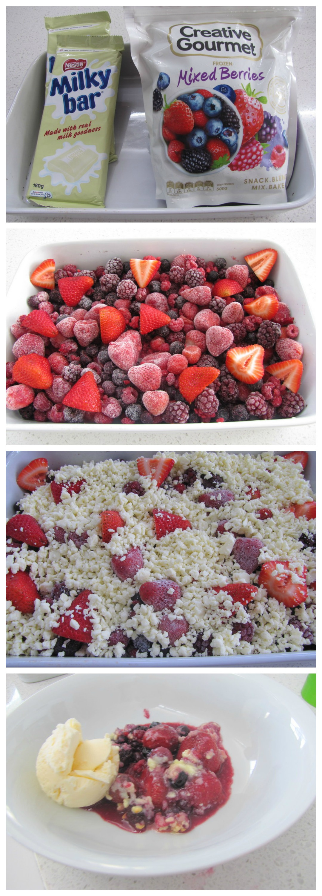 Berry & Chocolate Dessert - Only 2 Ingredients