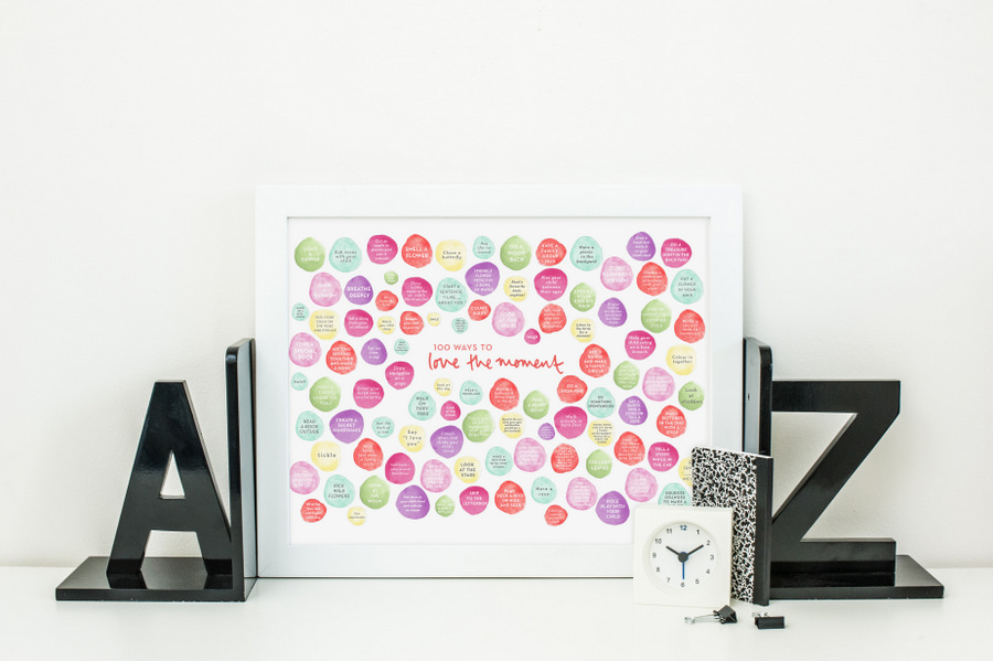 Love the Moment Poster - Sweet little things you can do with your kids
