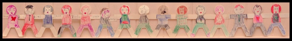 Paper Doll Family Wall Art