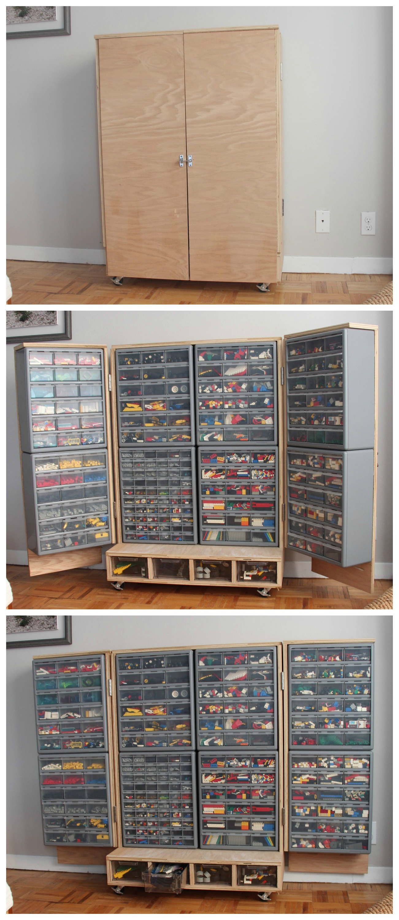 Lego Cupboard With Colour Coded Drawers