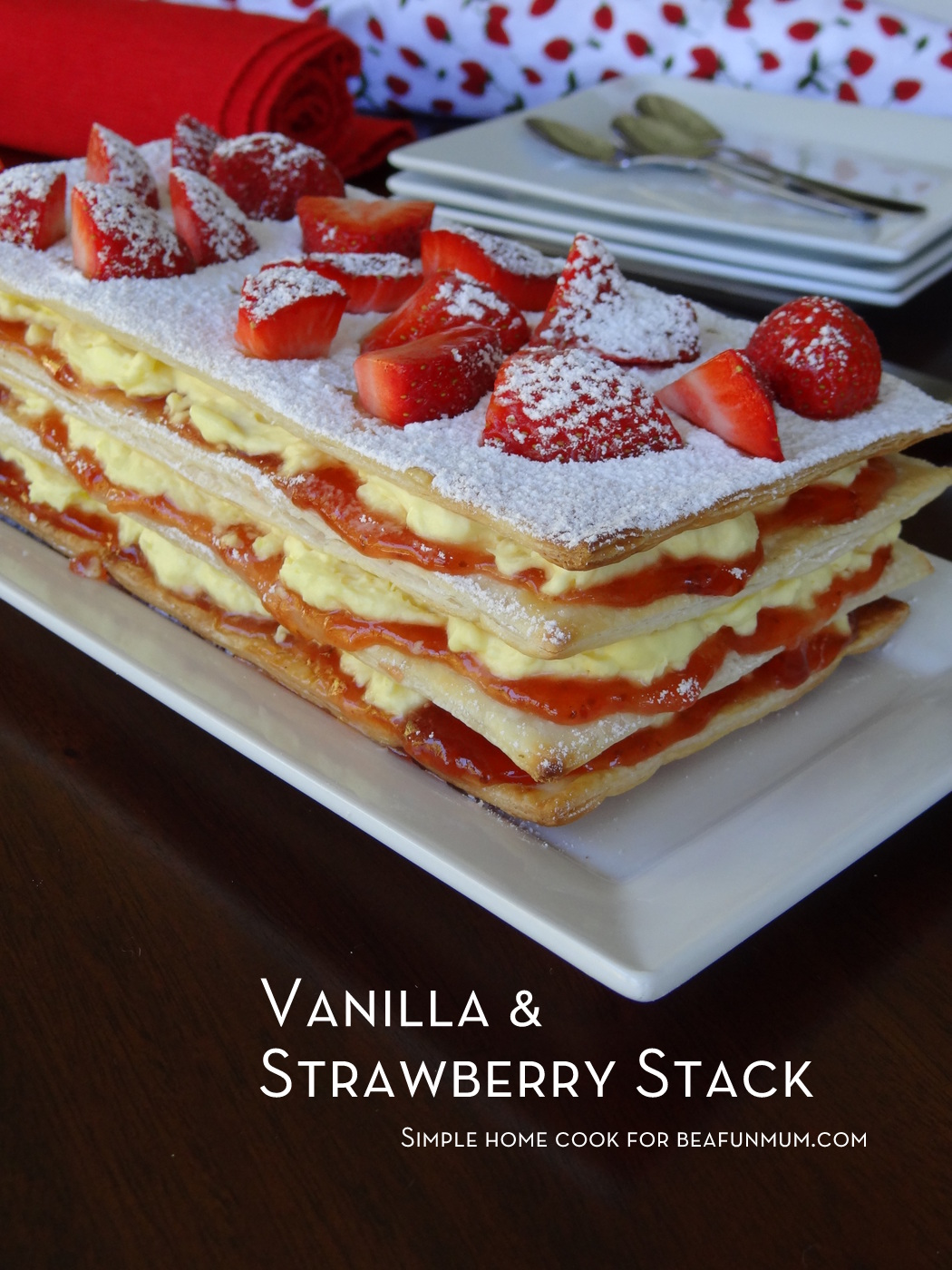 Vanilla & Strawberry Stack