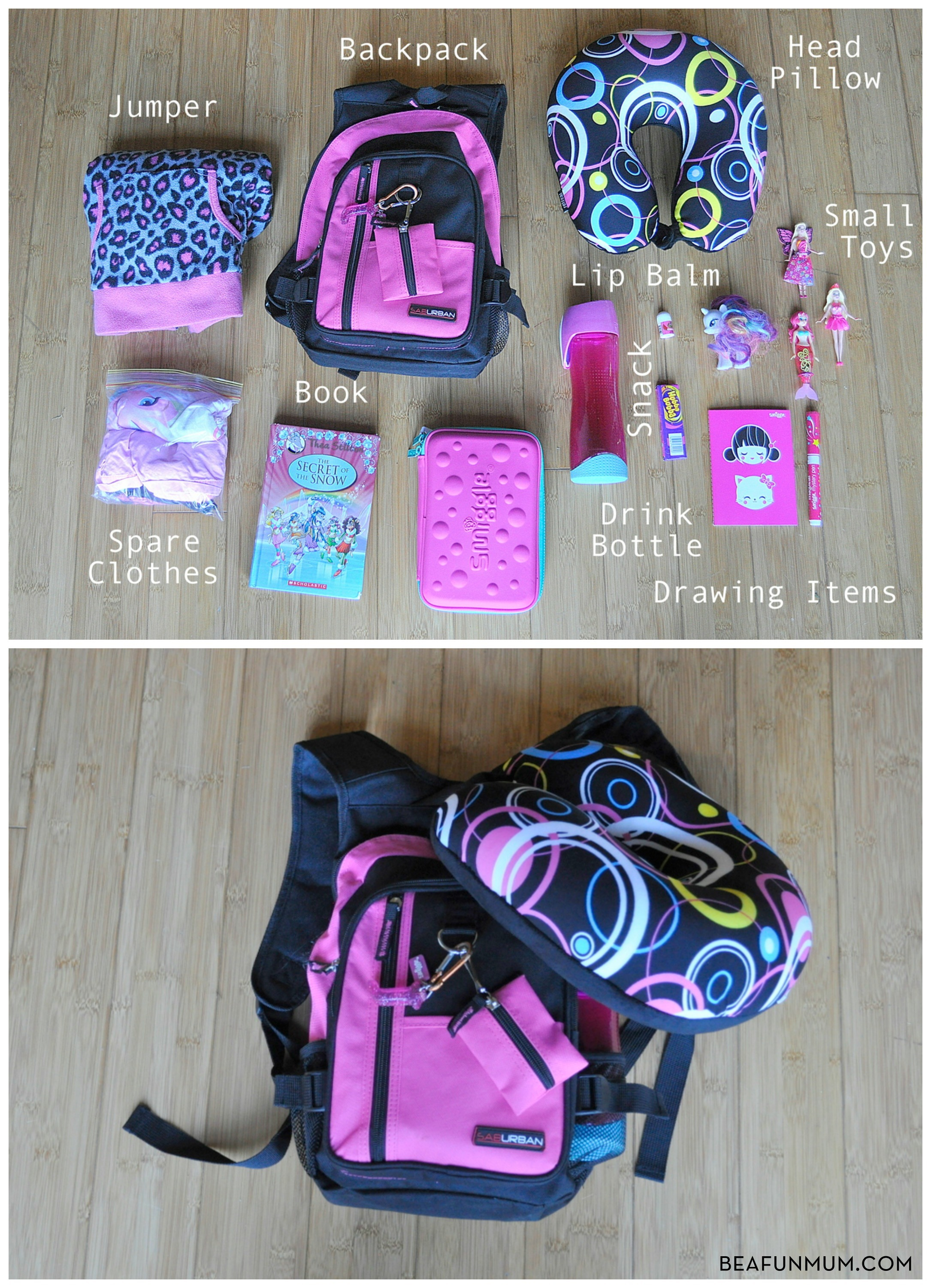 Plane Travel: Backpack for Kids | Be A Fun Mum