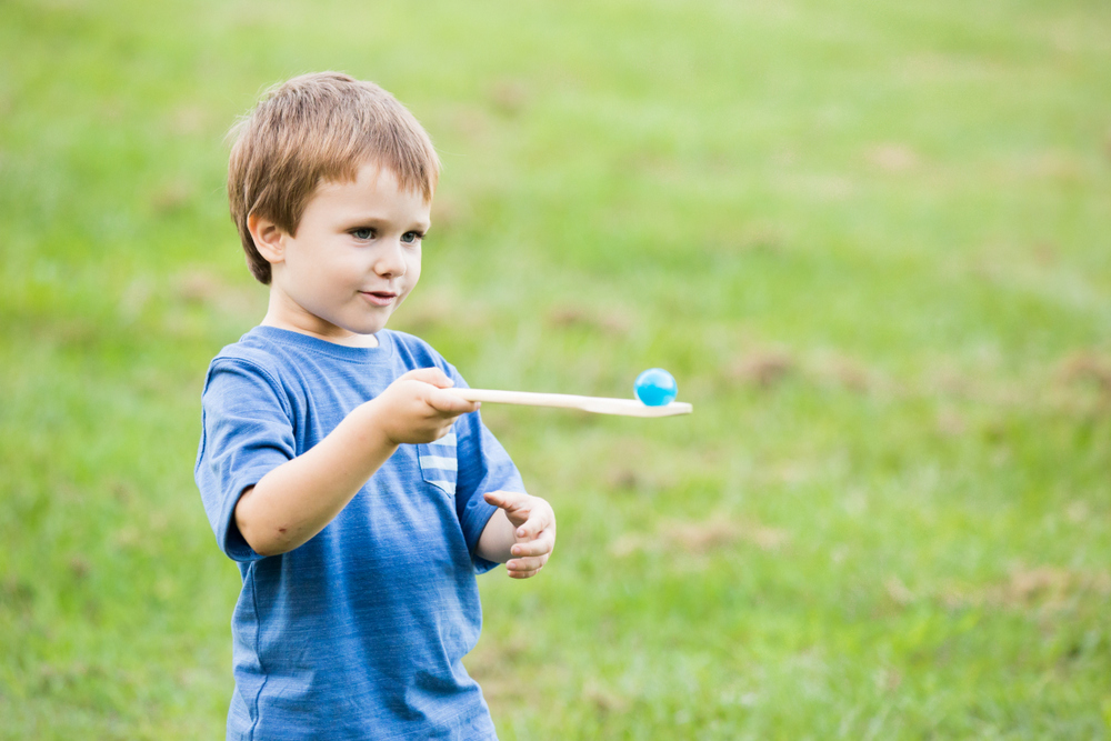 Egg and Spoon Race - Easter Egg Hunt Ideas