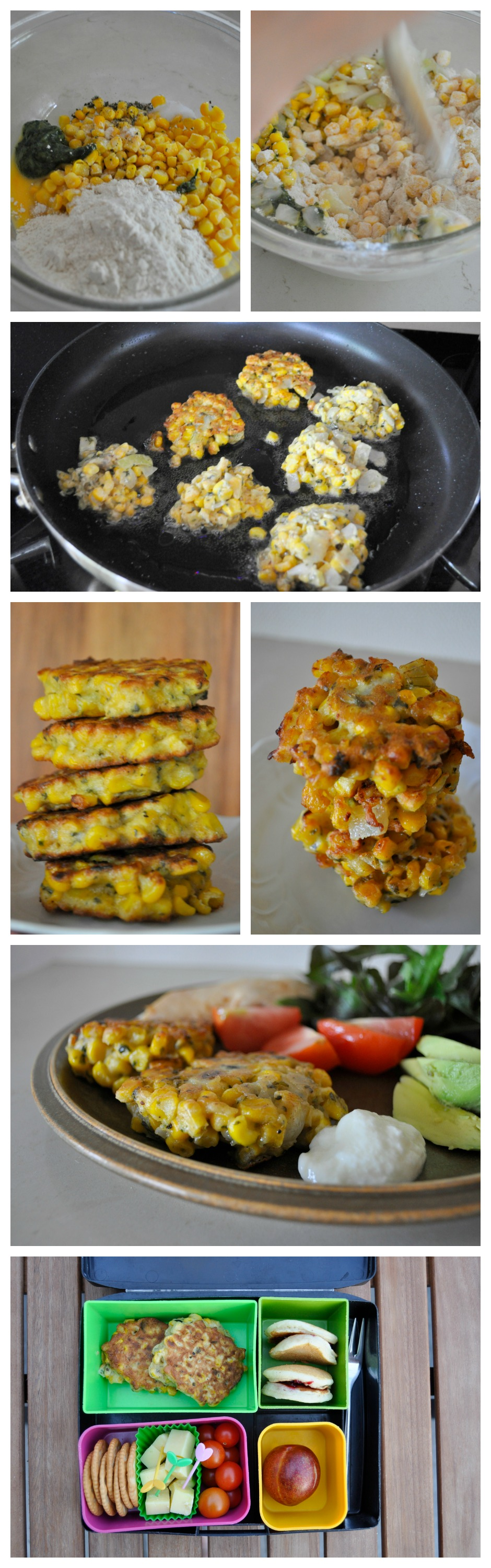 Corn Fritters Recipe - great for dinner and the lunch box