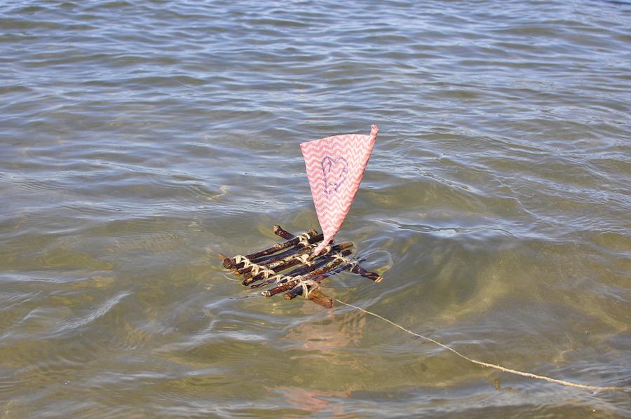 stick raft boat