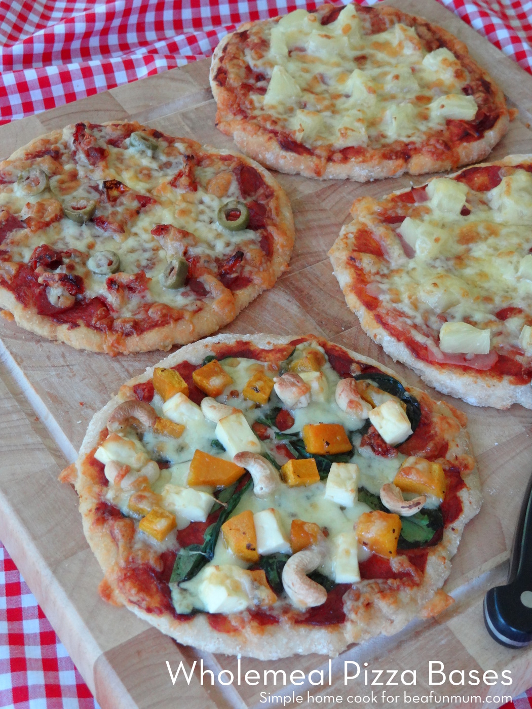Wholemeal Pizza Bases - only 2 ingredients