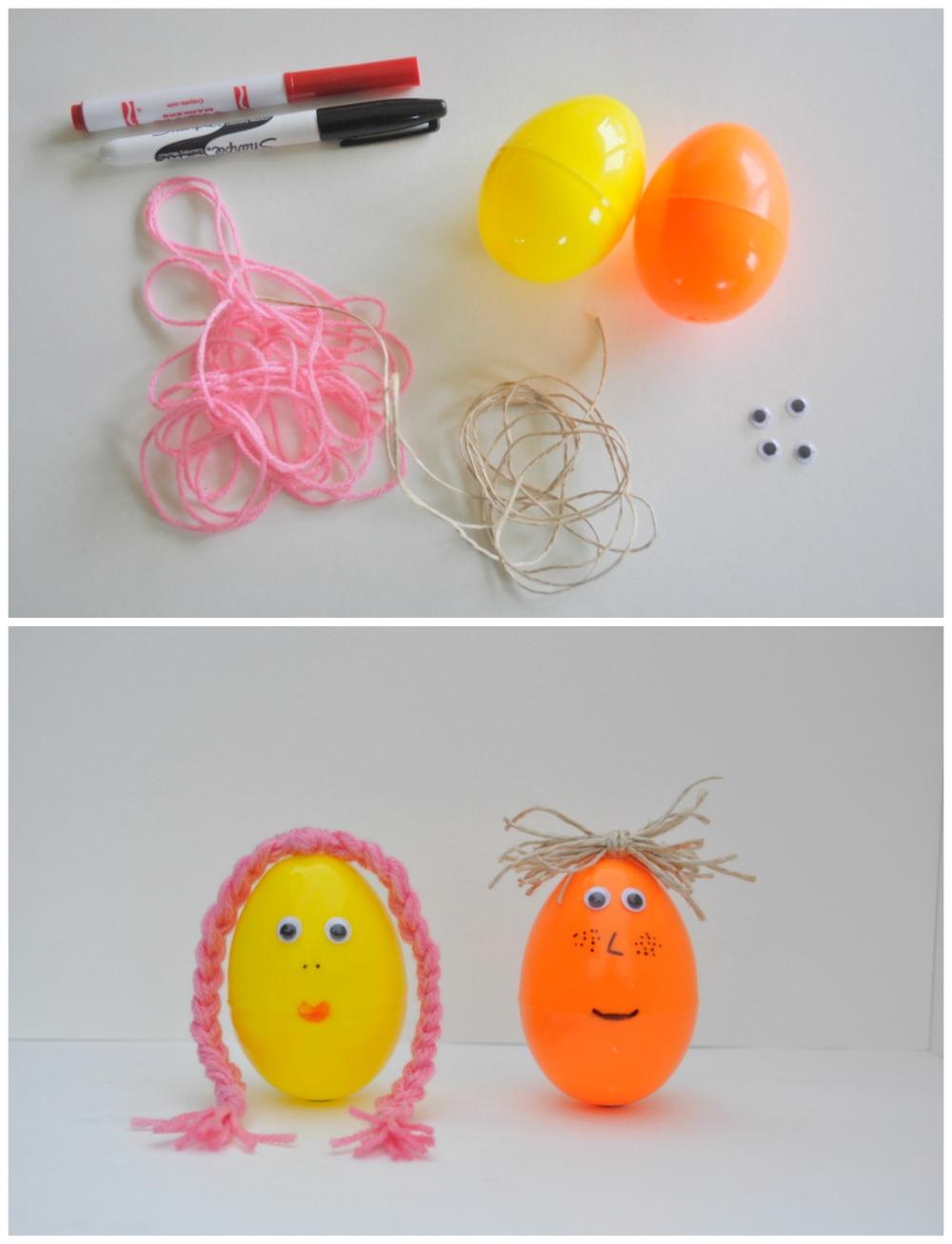 Decorate Plastic Easter Egg - Easter Egg Faces