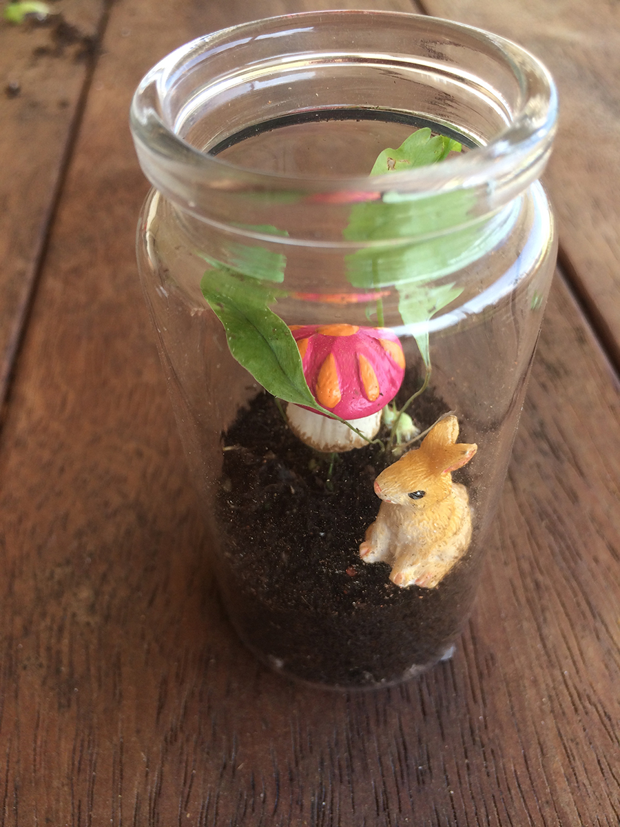 Easter Miniature Terrarium Sugar Free Nature Gift finished project