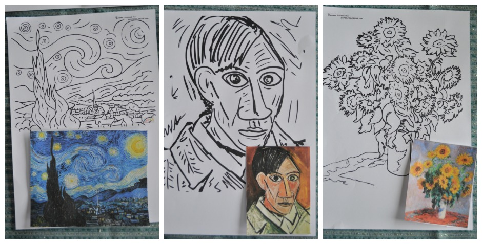 Famous Paintings Colouring Pages