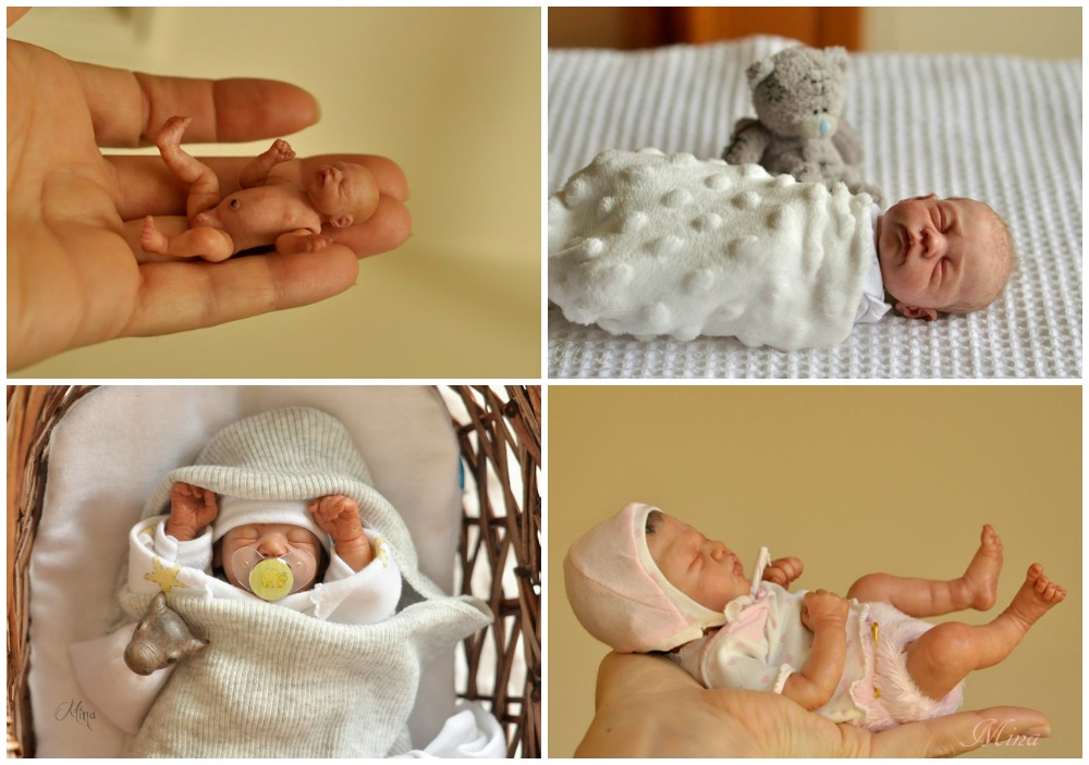 Miniture newborn baby sculptures