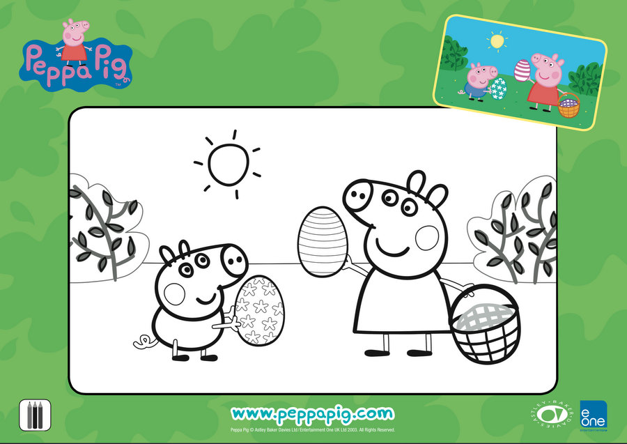 Peppa Pig Easter Craft & Activities - Colouring in
