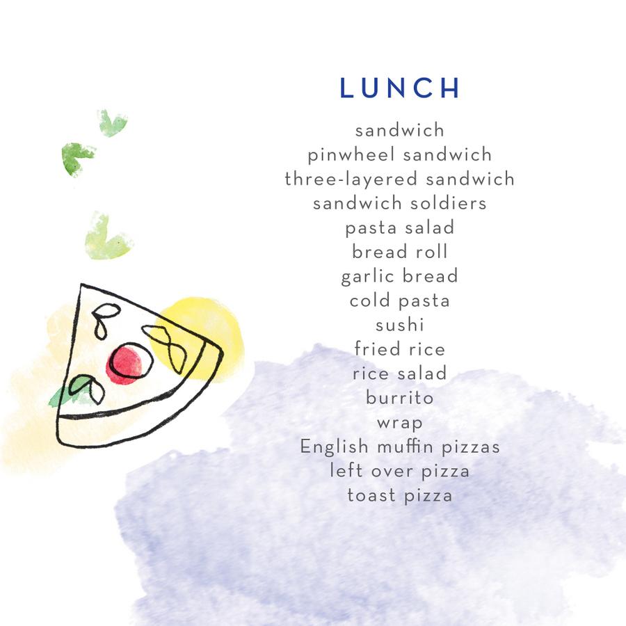 Lunch Box Food Ideas - lunch ideas