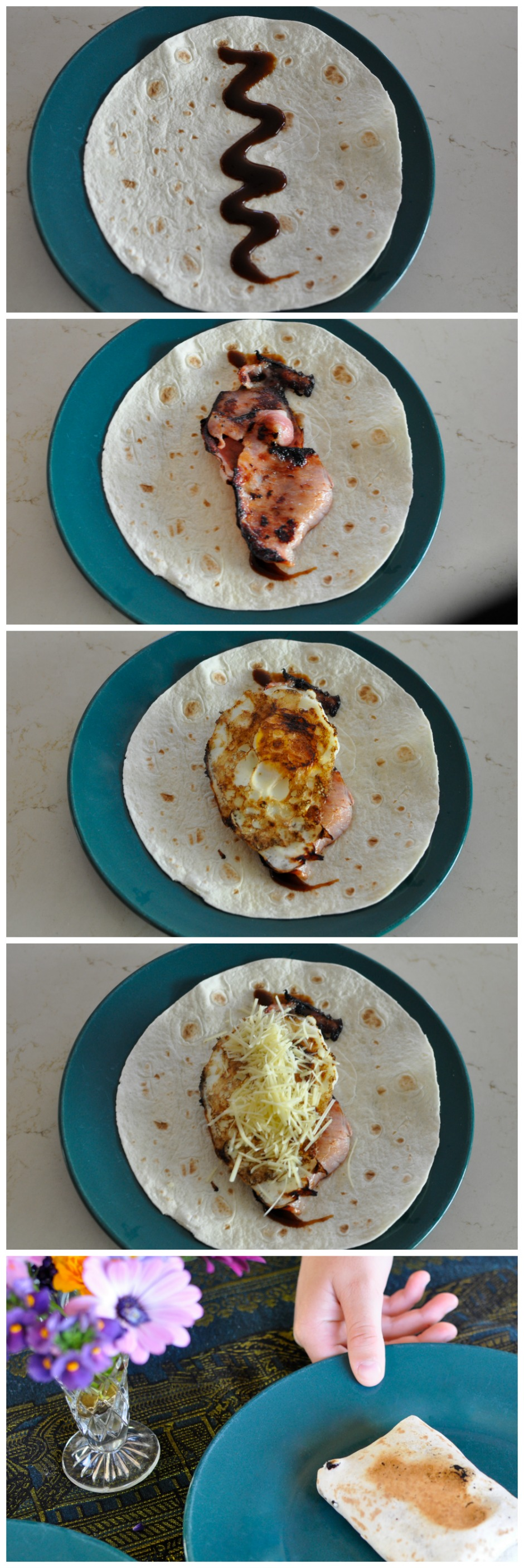 Bacon & Egg Toasted Breakfast Wrap