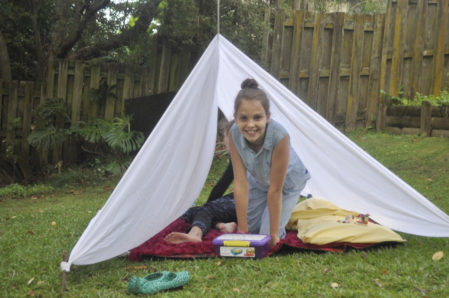 Fun Backyard Sheet Tent