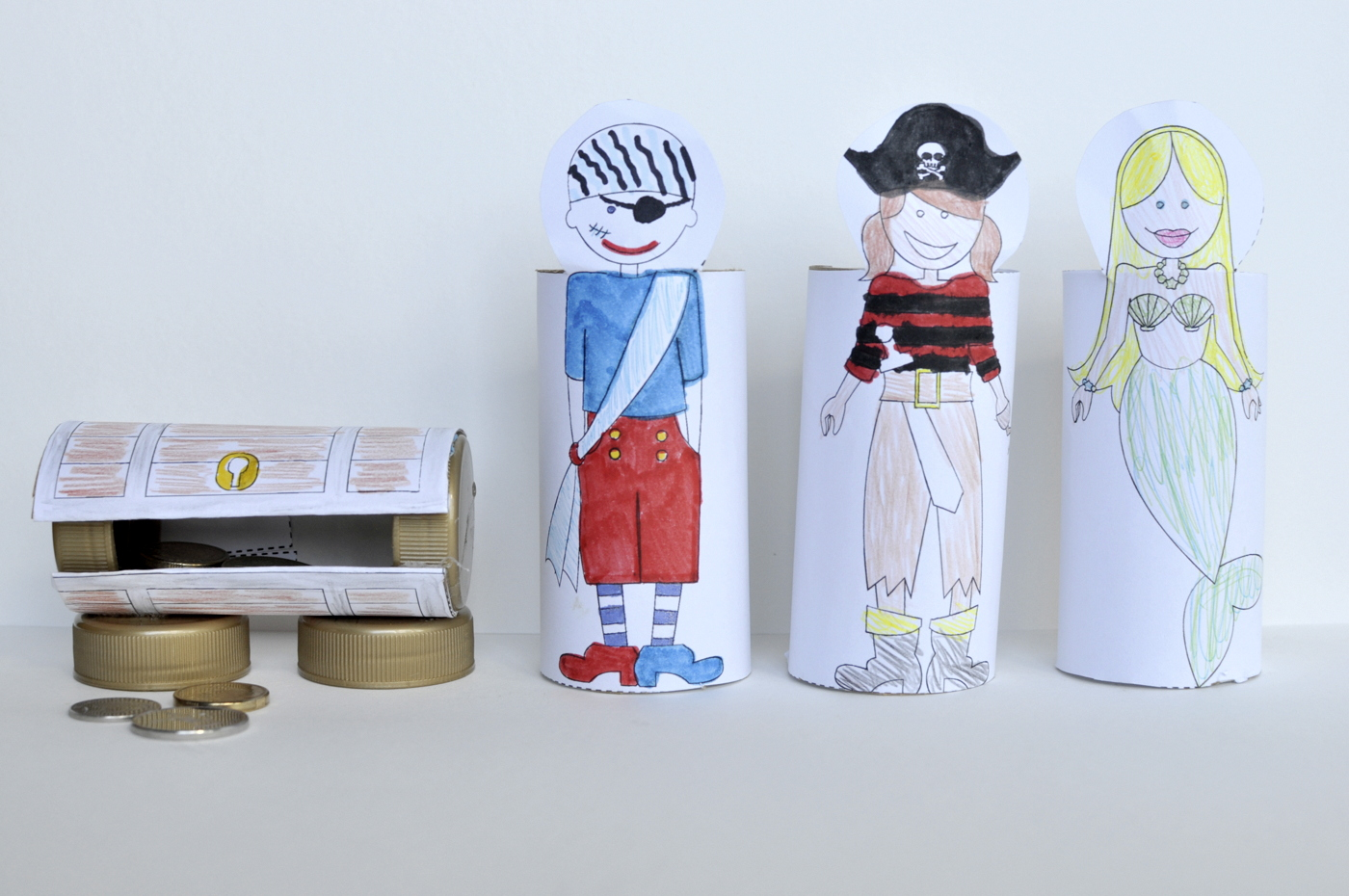 Toilet Roll Printable Pirate