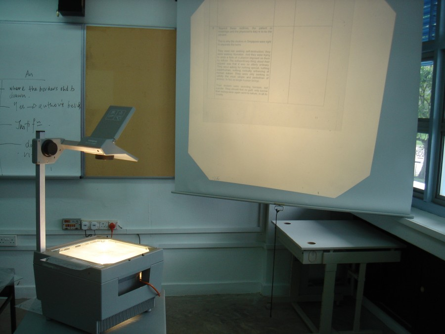 OHP- Overhead Projector