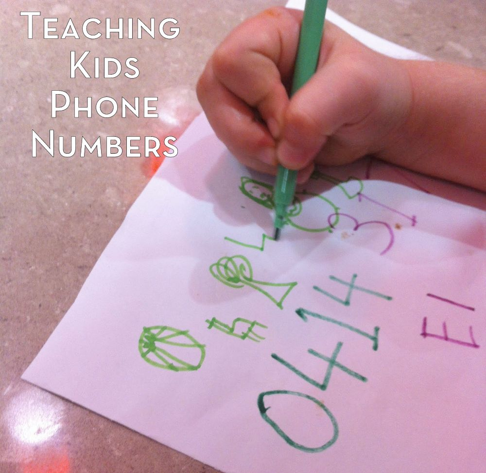 Teaching a child to remember their phone number - tips from an Occupational Therapist