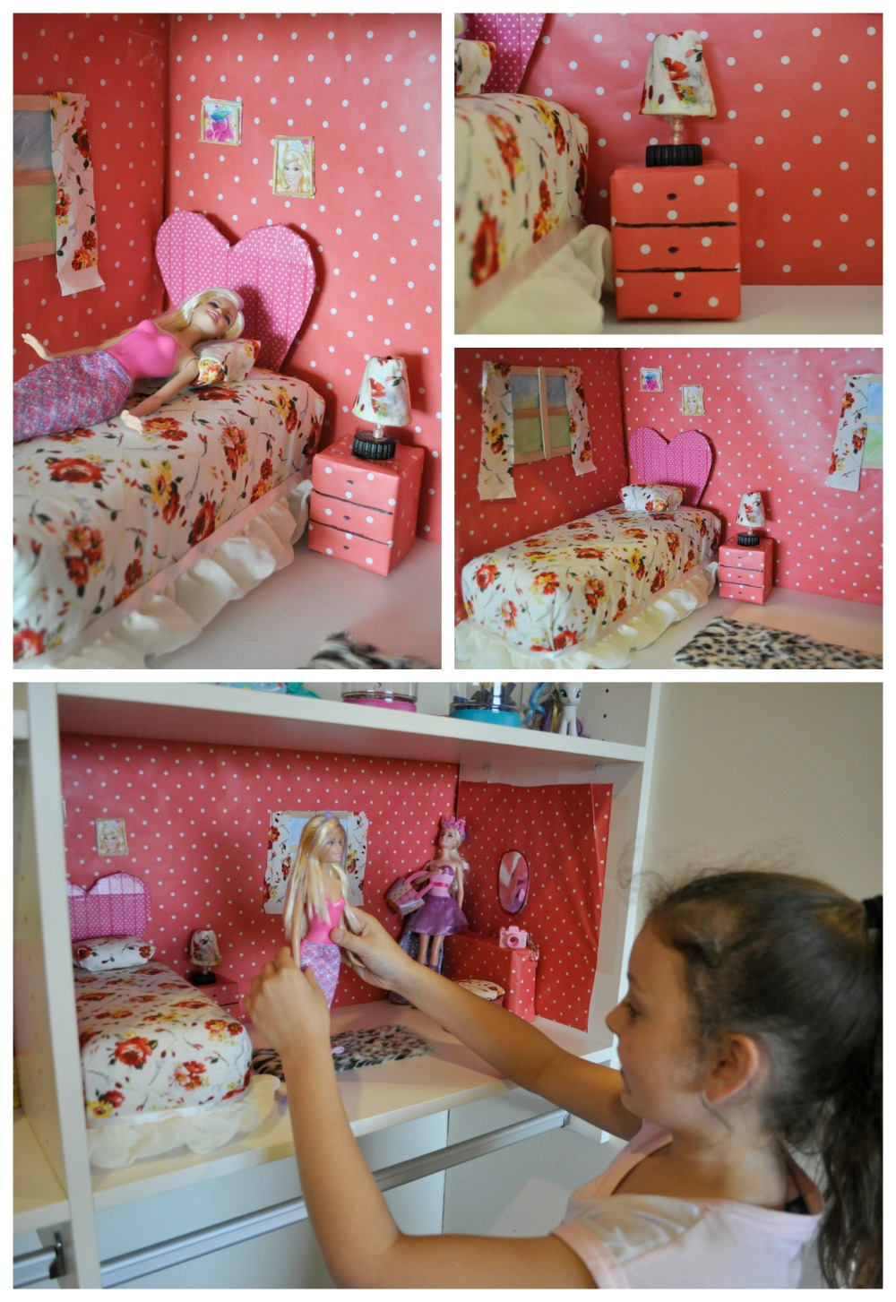 Create a Barbie Dollhouse with recycled materials