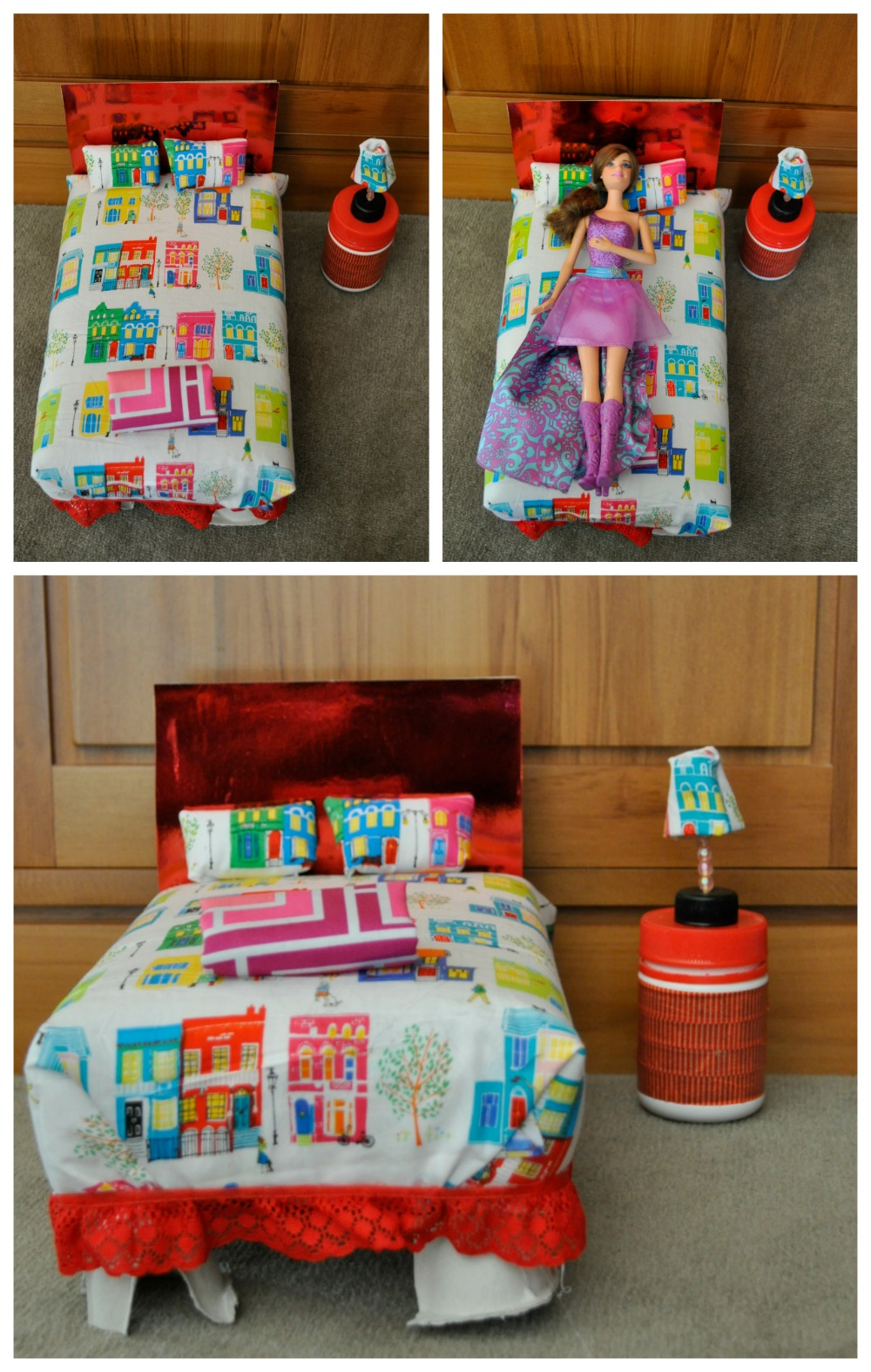 Diy barbie bed out of a shoebox or cereal box be a fun mum for What to make out of cereal boxes