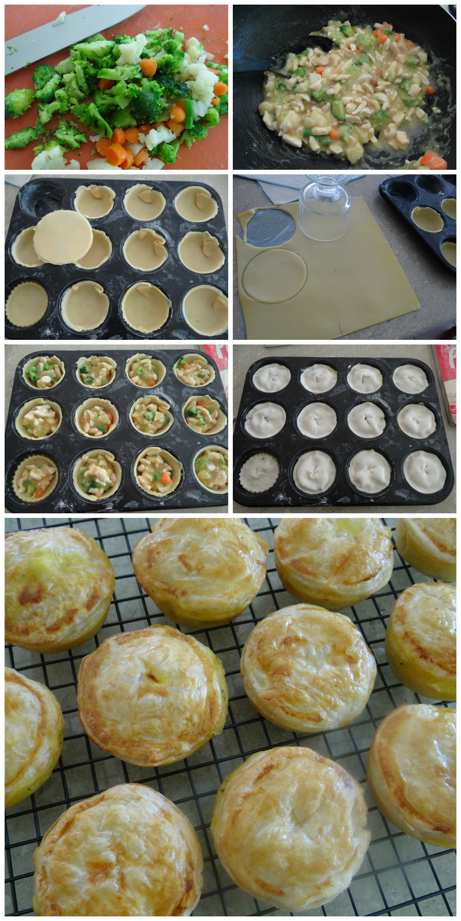 Mini Chicken Pies - easy recipe!