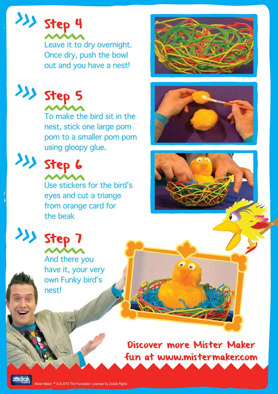 Mister Maker Craft - Funky Bird's Nest