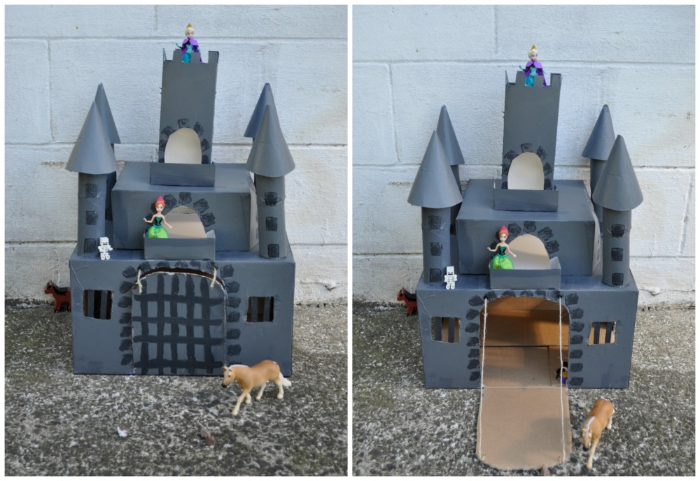 Box Castle with Working Drawbridge