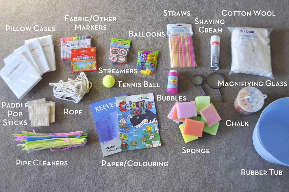Make up a fun box for the school holidays