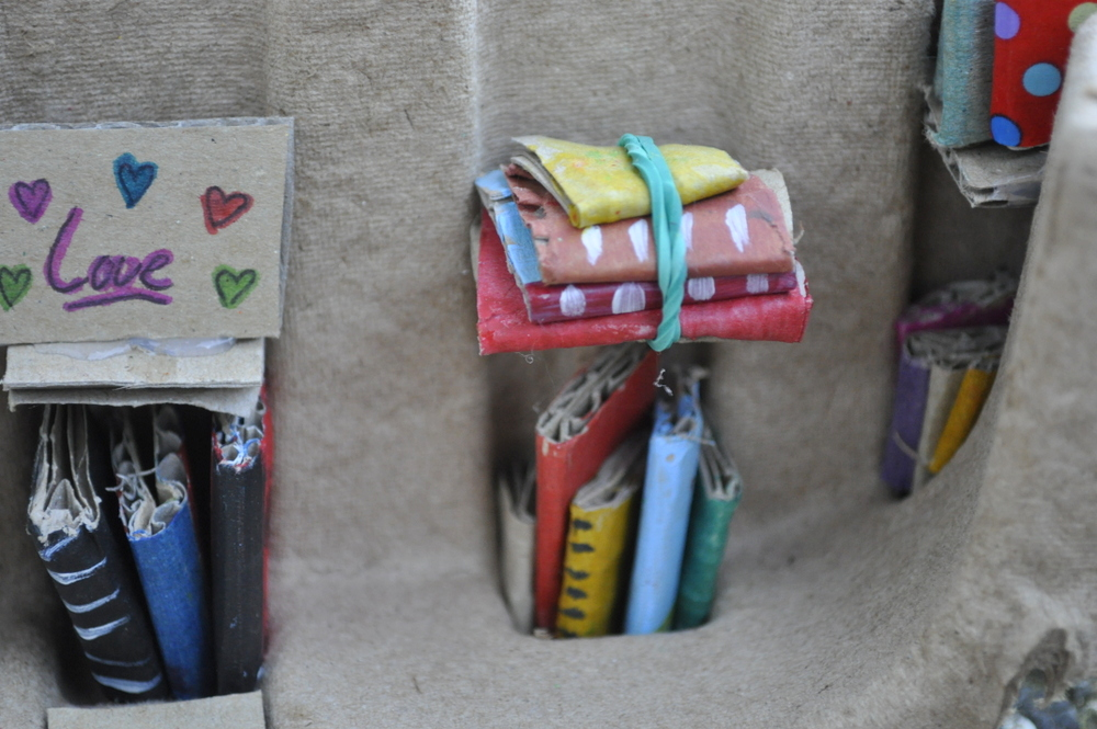 Mini cardboard library