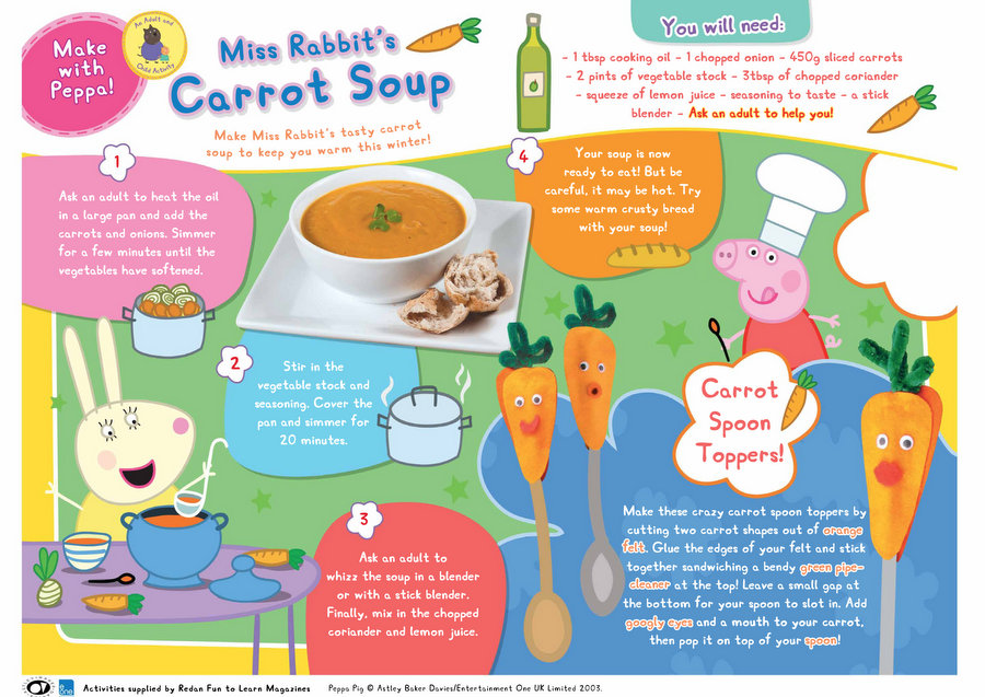 Peppa Pig - Carrot Soup Recipe