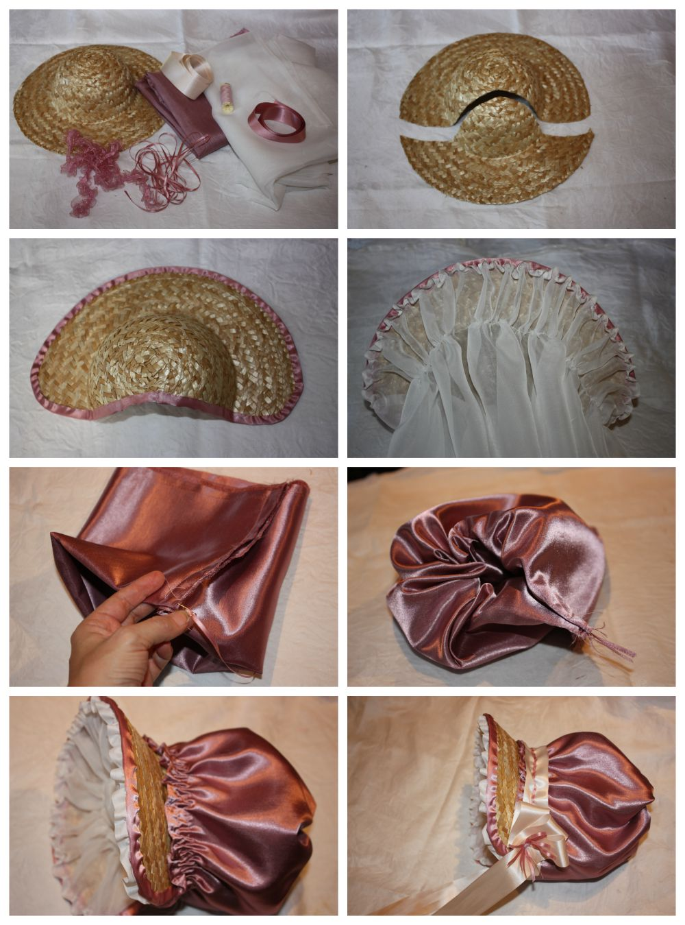 How to make a poke bonnet