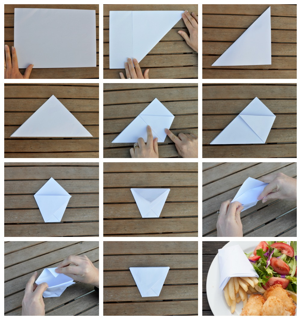 DIY Paper Cup for Hot Chips