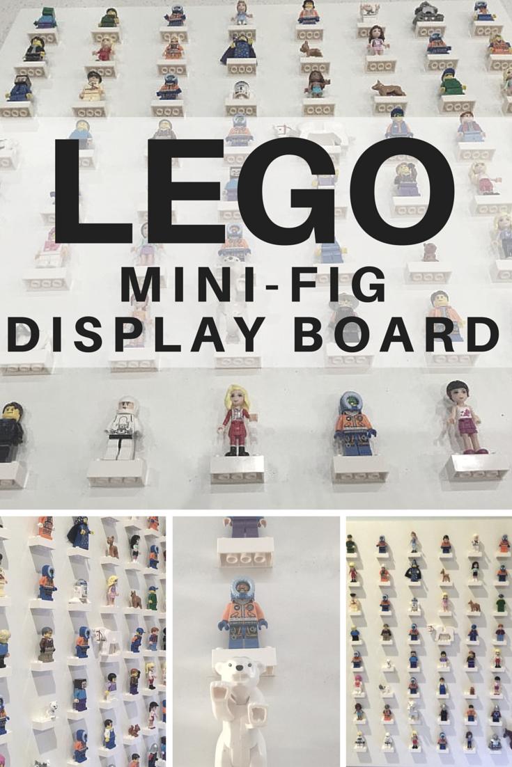 How to make a Lego Mini-Fig Display Board