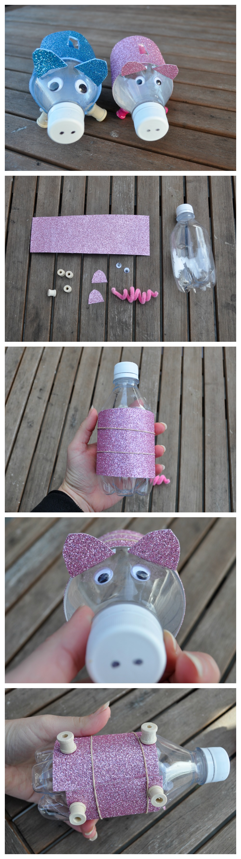 bottle piggy bank - a fun way for kids to save