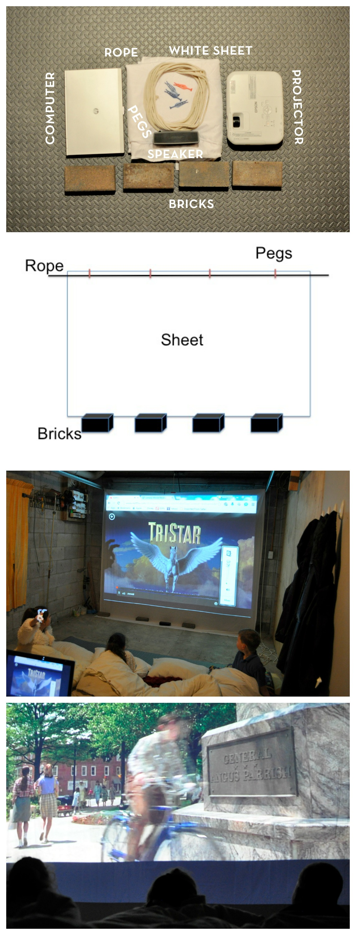What you need to do a portable cinema and movie screen