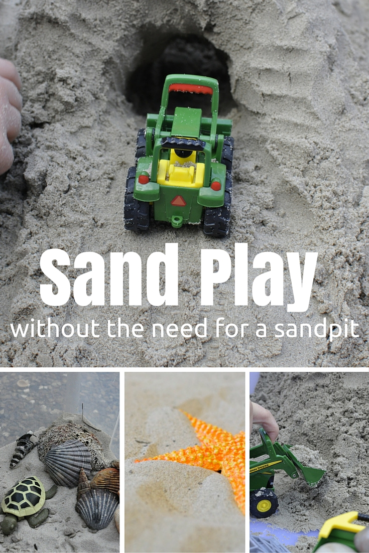 How to do sand play without a sandpit