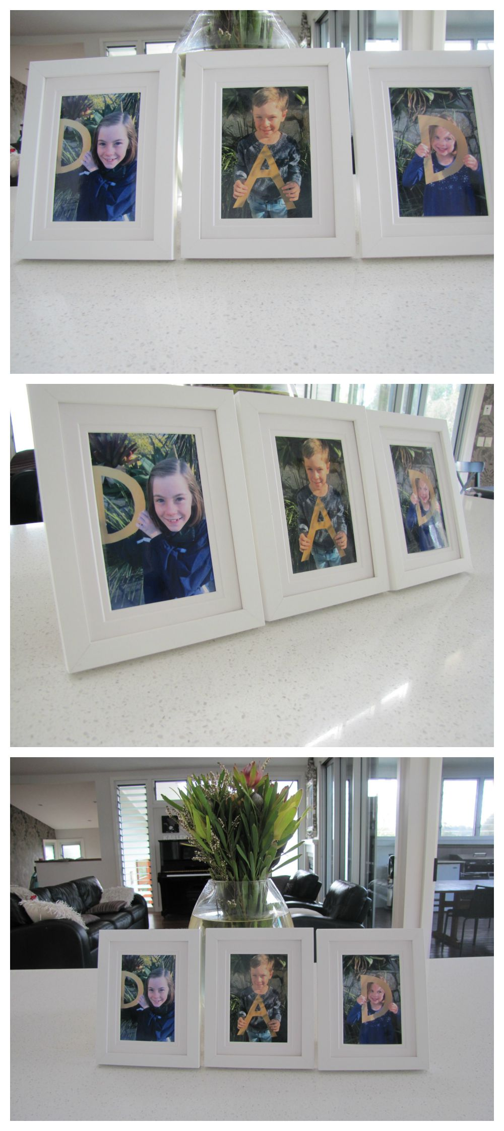 DAD Picture in 3 Frames