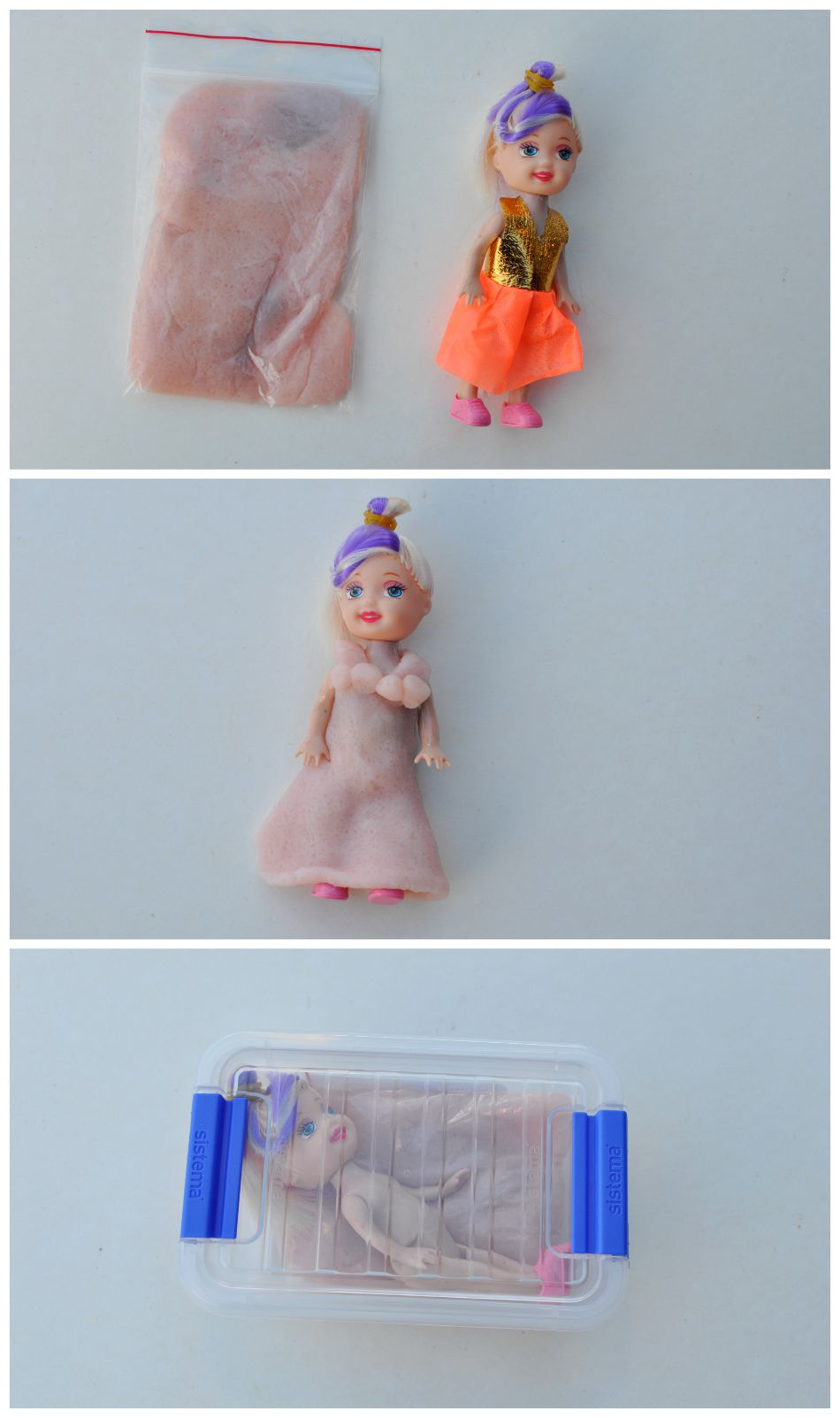 Fun things to put in your handbag - doll and play dough