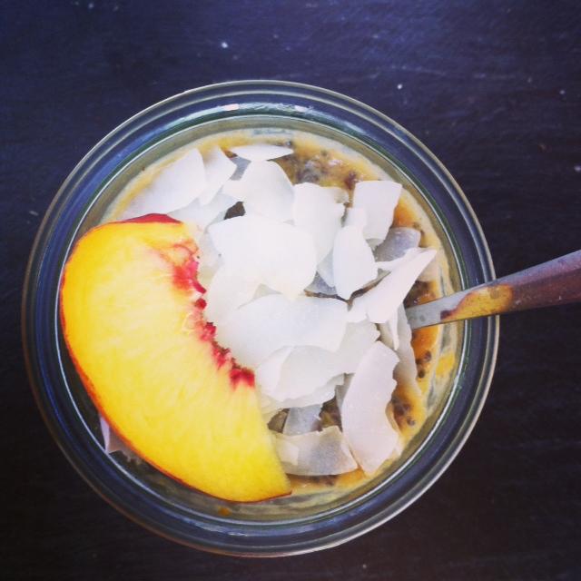 Overnight breakfast ideas - Peachy Coconut Chia Pudding