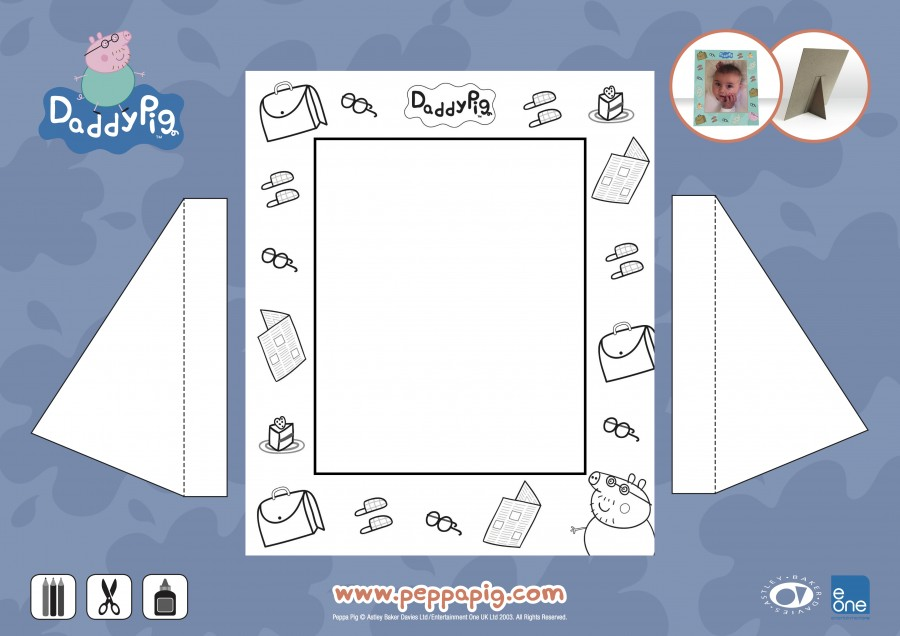 Peppa Daddy Picture Frame